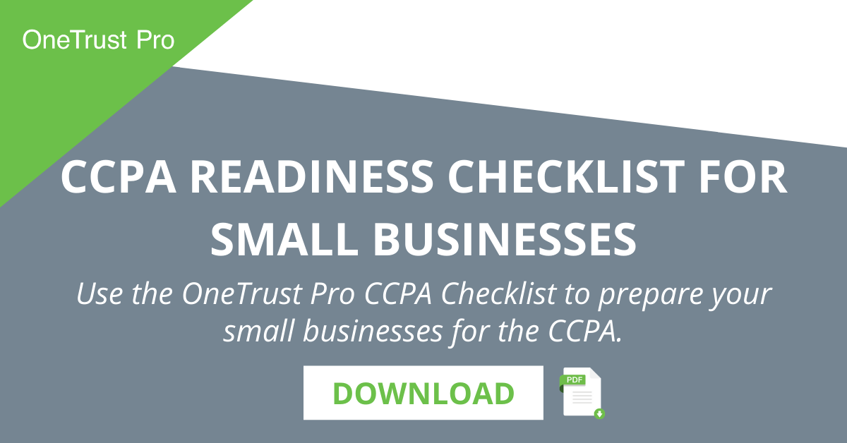 CCPA Readiness Checklist for Small Businesses