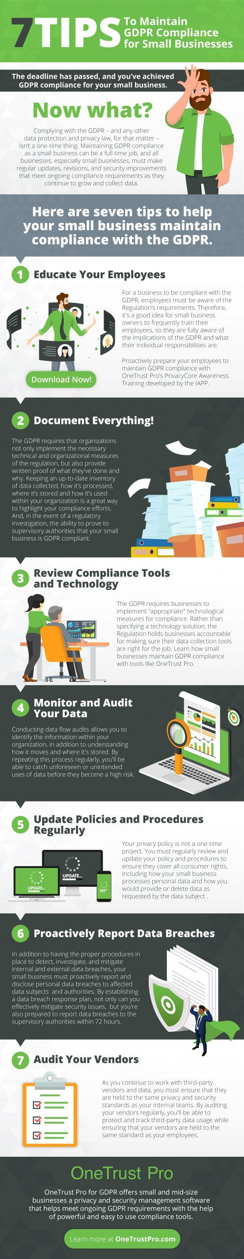 [Infographic] 7 Tips to Maintain GDPR Compliance for Small Businesses