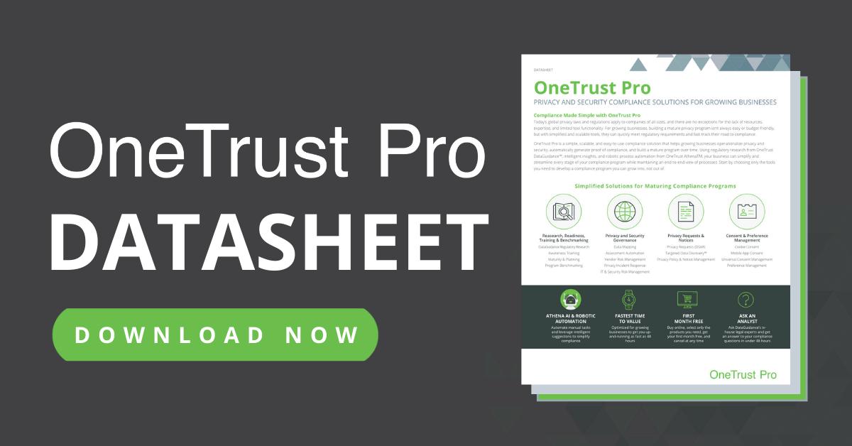 OneTrust Pro Datasheet